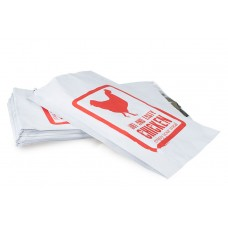 Foil Lined Bags; printed chicken extra large 180 x 290mm 250/pk