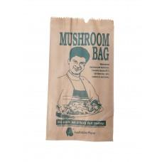 Paper Bags; brown printed Mushroom 250/pk