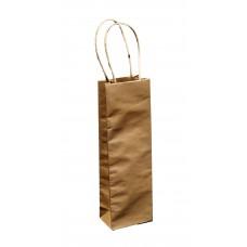 Brown Kraft Paper Bag; single bottle twist handle 120/ctn