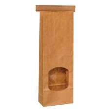 Tintie Brown Kraft Bag; window small 88mm x 260mm + 48mmG 500/ctn