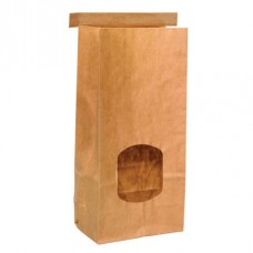 Tintie Brown Kraft Bag; window medium 115mm x 246mm + 70mm G 400/ctn