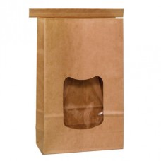 Tintie Brown Kraft Bag; window large 156 x 246mm + 76mm G 400/ctn