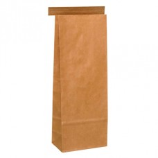 Tintie Brown Kraft Bag; plain medium 100 x 275mm + 60mm G 500/ctn
