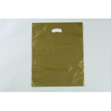 Plastic Bag; LD gold die cut handle large 530 x 415mm  5 x 100pk/ctn 500/ctn