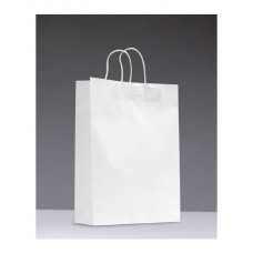No.420 White Kraft Paper Bag With Twisted Handle