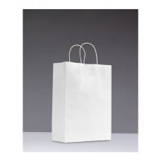 No.350 White Kraft Paper Bag With Twisted Handle