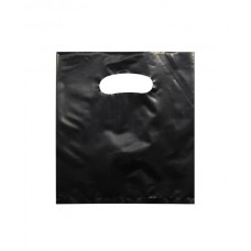 Plastic Bag; die cut handle baby 230 x 210mm black 10 x 100pk/ctn 1000/ctn