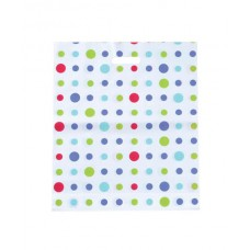 Plastic Bag; die cut handle large 530 x 415mm polka dot 10 x 50pk/ctn
