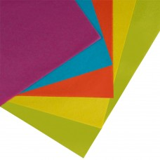 Tissue Paper; assorted colours 500 x 750mm 480sheets/bnd Summer rainbow