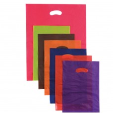 Plastic Bag; die cut handle large 530 x 415mm purple 5 x 100pk/ctn 500/ctn