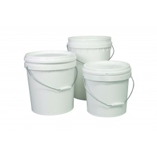20L White Bucket with Lid
