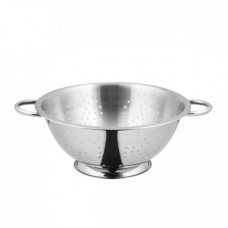 13.0lt Colander with Wire Handle (4mm Holes) - 375x165mm