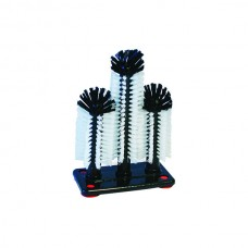 Glass Brush; Triple-tall centre, suction cups