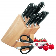 Cutlery Block Set; Mundial Bonza knife set 9 piece