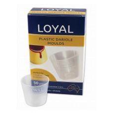 Plastic Dariole Moulds 50/pk
