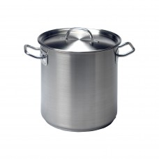 Chef Inox Elite 10.75Lt Stockpot With lid Stainless Steel – 240mm X 240mm