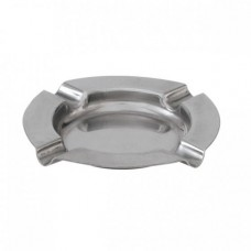Ashtray; stainless steel 125mm 12/pk