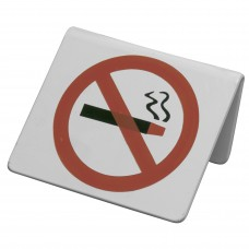 Sign; 'no smoking' for tables