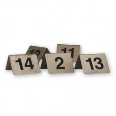 Table Numbers; 1-10 A Frame stainless steel
