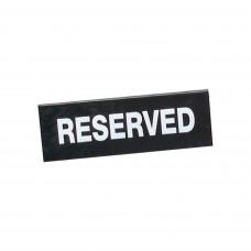 Sign; 'reserved' a frame
