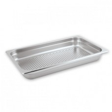 Gastronorm Pan; stainless steel perforated 1/1 size 65mm deep