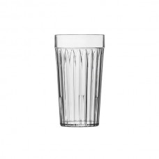 Glass-look Plastic Fluted Stackable Tumbler S.A.N 8oz / 240ml 72 per box