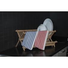 Teatowel; 520 x 750mm red striped