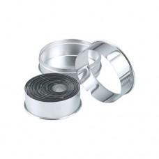 Cutter Set; round plain   11 piece 25-95mm 18/8