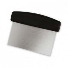 Dough Scraper; 150x75mm Black plastic handle