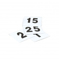 Table Numbers; 1-25 flat