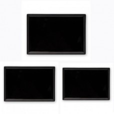 Platter; Ryner melamine rectangular black 250x170mm 6/box