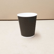 Coffee Cups; triple wall charcoal 8oz - 25 per pack