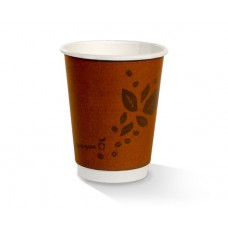 12oz double wall PLA lined Biodegradable Coffee Cups 500 per carton