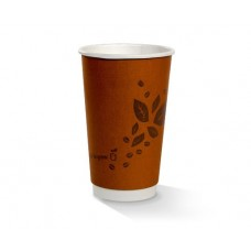 16oz double wall PLA lined Biodegradable Coffee Cups 500 per carton