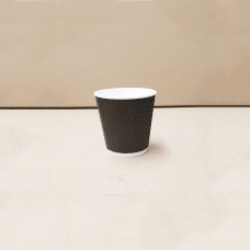 Coffee Cups; triple wall charcoal 4oz - 25 per pack