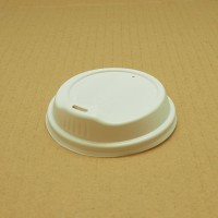 Lids; for coffee cups 12oz Good Poly Bio white 10 x 100pk/ctn 1000/ctn