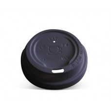 Black 8oz Coffee Cup Lids TP - 100pk, 1000ctn