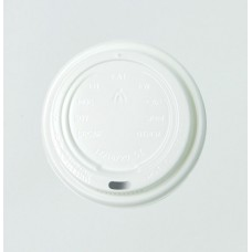 White 8oz Coffee Cup Lids TP - 100pk, 1000ctn