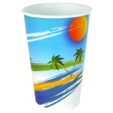 Paper Cup; 16oz cold drink printed 20 x 50pk/ctn 1000/ctn
