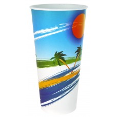 Paper Cup; 22oz cold drink paradiso 20 x 50pk/ctn 1000/ctn