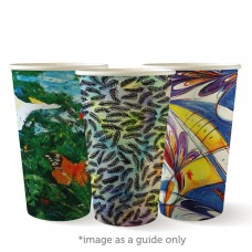 Coffee Cups; single wall 16oz Art Series 20 x 50pk/ctn 1000/ctn