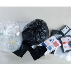 240L Clear Garbage Bags LDPE 4 x 25pk/ctn 100/ctn