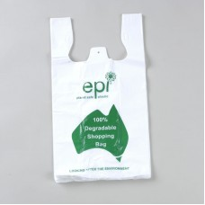 Large Degradable Printed EPI Checkout Carry Bags - 250 per pack, 2000 per carton