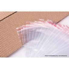 "Reseal Plastic Bags; 8 x 9"" 205x230x40um 100pk"
