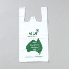 Medium Degradable Printed EPI Checkout Carry Bags - 250 per pack, 3000 per carton