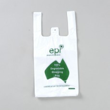 Small Degradable Printed EPI Checkout Carry Bags - 250 per pack, 5000 per carton