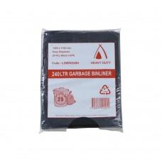 240L Heavy Duty Black Garbage Bags Easy Dispense 100/ctn