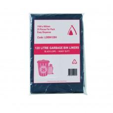 120L Black Heavy Duty Garbage Bags Easy Dispense 100/ctn