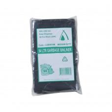 54L Black Medium Duty Garbage Bags Easy Dispense 250/ctn