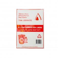 82L Clear Garbage Bags 8 x 25pk/ctn 200/ctn